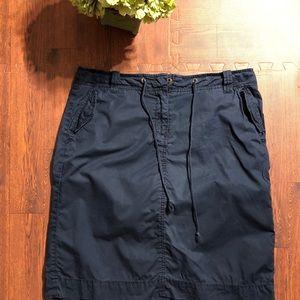 Women's J Crew Blue Chino Classic Twill Skirt 10
